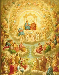 swieci w niebie